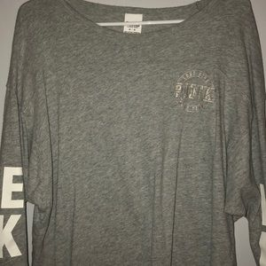 Gray quarter sleeve Victoria's Secret Pink shirt